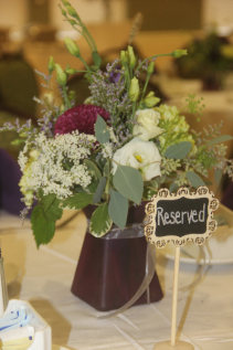Table Centerpiece Fresh Vased Arrangement