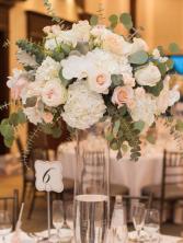 Table centrepiece  Reception flowers