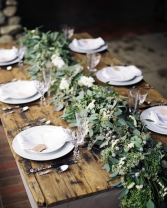 Table Garland Wedding Reception