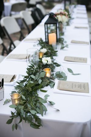 TABLE RUNNER  $ 15.00 per foot (all lush greenery)