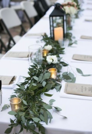 Table runner decor  Reception