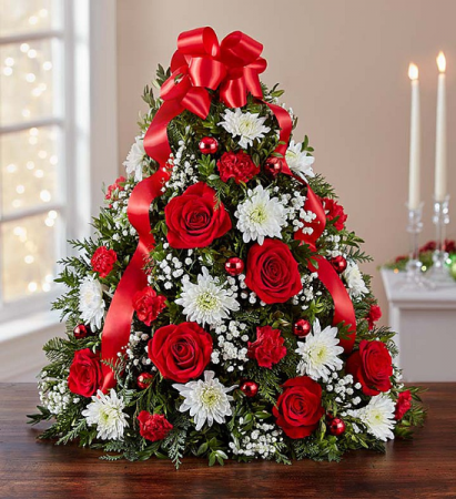 Table Top Red Holiday Tree