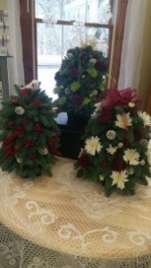 """Tabletop Christmas Tree Approximately 18"""" decorated tree"""