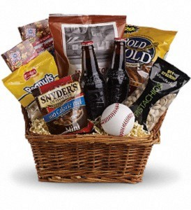 Take Me Out to the Ballgame Basket  Gift Basket in Vienna, WV | FOX'S FLORAL AND GIFTS