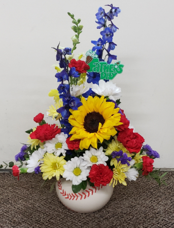 Take Me Out To The Games  fresh keepsake arrangement (Local Only)