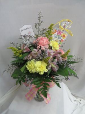 Take Note Fresh Mixed Vased Arrangement in Farmville, VA | CARTERS FLOWER SHOP
