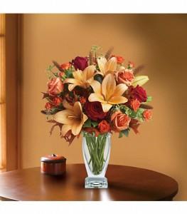 Autumn Colors Vase Arrangment