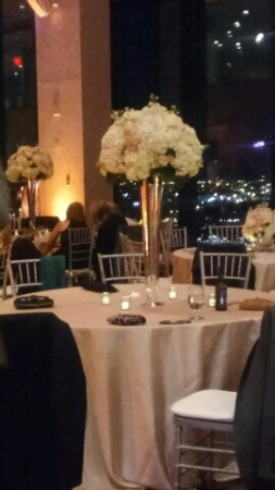Tall centerpieces Stunning blush and Ivory centerpieces