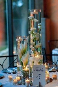 Tall Cylinder Vases Wedding Flowers