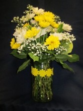 Tall Hobnail Vase with Daisies, $49.95