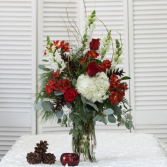 Tall Holiday Vase