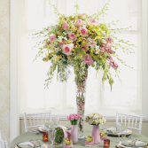 TALL PASTEL COLOR CENTERPIECE WEDDING