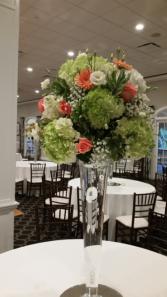 Tall reciption centerpieces Elegant wedding arrangements