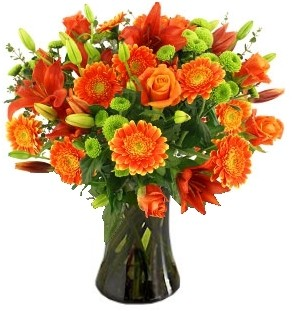 """TANGERINE "" FLOWERS  ARRANGEMENT"