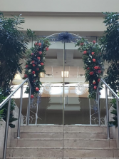 Double sided flowers and arch