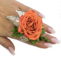 Tangerine Floral Ring