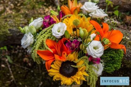 Tangerine Glow Vase arrangement
