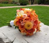 Tangerine Summer Bridal Bouquet