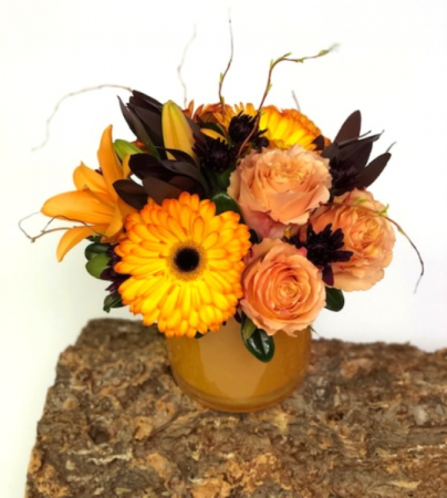 Tangerine Twist Vase Arrangement