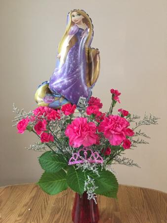 tangled princes vase arrangment