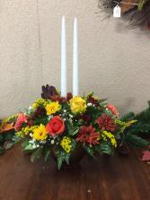 taper candle arrangement