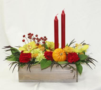 Taper in a Box Fresh Floral Design