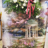 Tapestry floral Funeral Stand