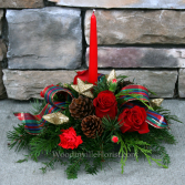 Tartan Table Christmas Centerpiece