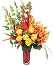 Tawny Orchid Vision Flower Arrangement