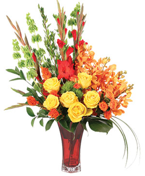 Tawny Orchid Vision Flower Arrangement in Ozone Park, NY | Heavenly Florist