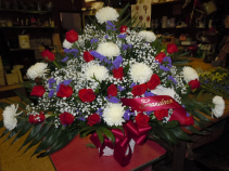 TB6 RED, WHITE AND PURPLE TRADITIONAL SYMPATHY SPRAY