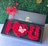 Te Amo Rosas Rojas en Caja