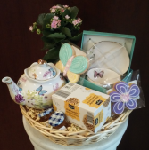 Tea and cookies Basket  Gift baskets