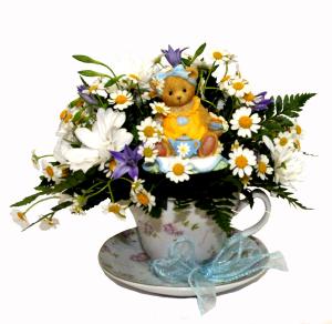 Tea Cup  in Penn Yan, NY   Garden of Life Flowers