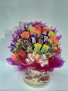 Tea cup and saucer candy bouquet