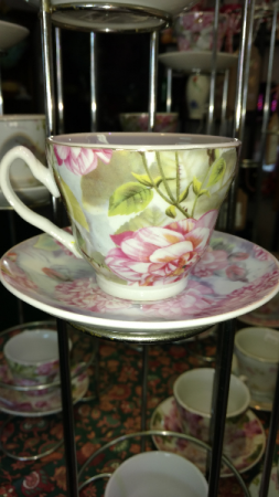 Tea cup and saucer Mother's Day full of life