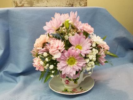 Tea Cup Floral Arrangement