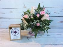 Roses in Tea Cup W/ Tea