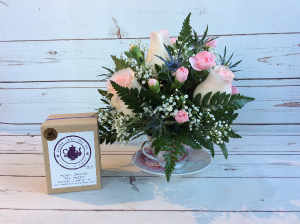 Roses in Tea Cup W/ Tea  in Culpeper, VA | ENDLESS CREATIONS FLOWERS AND GIFTS