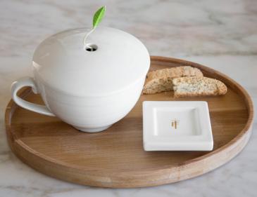 Tea Forte Oval Bamboo Tray
