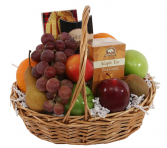 Tea & Fruit and Cookies Basket  Gift baskets