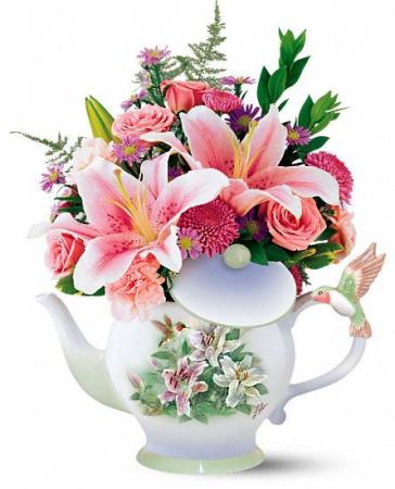 Tea Pot  Bouquet