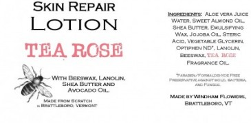 TEA ROSE Made from Scratch Natural Hand Lotion Our own luxurious shea butter, beeswax and lanolin hand lotion !