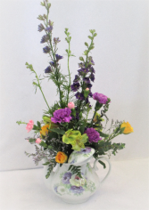 TEA TIME BLOSSOMS FRESH FLOWER ARRANGEMENT