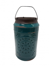 Teal Ceramic Candle Holder