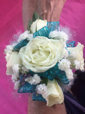 Teal We Meet Again Wraist Corsage