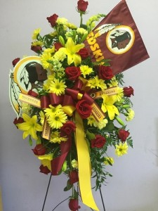 Team Standing Spray In White Plains Md Creative Expressions Florist