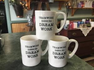 Team Work!! Ceramic mug in Claremont, NH | FLORAL DESIGNS BY LINDA PERRON