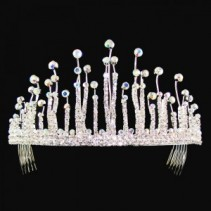 Tear Drop Crystal Tiara Wedding Accessories