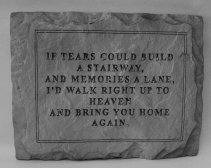 Tears Stone Memorial Stone
